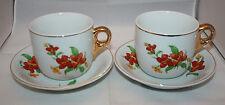 Vintage 2 Arabia Finland Isan Aidin Kuppi Mothers Fathers Mug Cups Saucers Rare