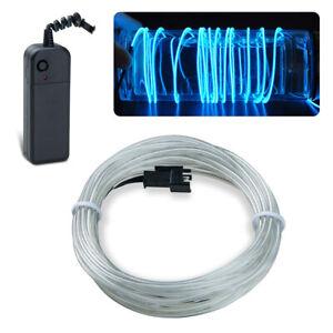 EL Kabel Leuchtdraht 1-5M LED Neon Wire Lichtschnur Glühen Draht Licht Party DE