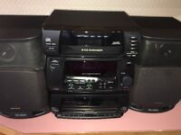 PANASONIC CD STEREO SYSTEM SA-CH34 With SPEAKERS, No Remote