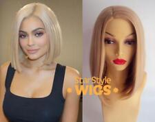 Deluxe Kylie Jenner dritto Bionda Bob Resistente Al Calore Parrucca alla Moda