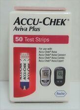 Accu-chek Aviva Plus Test Strips 1 Box of 50 Expires 2021