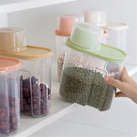 1.9/2.5L Dried Food Storage Container Sealed Cereal Grain Pasta Boxes Dispenser
