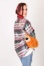 Vintage multi coloured tartan check plaid shimmer shirt BERTONE styled HannesB