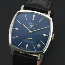 VINTAGE LONGINES ULTRA-CHRON CAL 433 AUTOMATIC BLUE DIAL MEN'S DRESS SWISS WATCH
