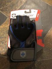 Harbinger Black /Blue Training Grip Strength Lifting Gloves M