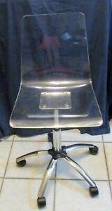 Steve Silver Arthur Clear Acrylic Home Office Adjustable Swivel Chair AU650S