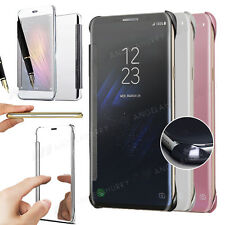 Galaxy S8 / S8 PLUS Case, Shockproof View Mirror Mirror Flip Cover For Samsung