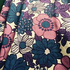 vintage 70s fabric floral DIY cushions wall art crafts retro iconic textile