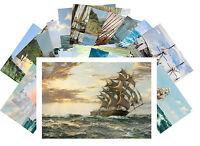 Postcards Pack [24 cards] Sailship Marine Ocean Vimntage Painting Danwson CD3003