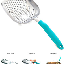 DuraScoop Jumbo Cat Litter Scoop, All Metal End-to-End with Solid Core, Sifte.