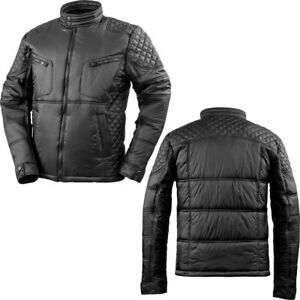 Winter Mens Motorcycle Jacket Bikers Full Zip Soft Slim Showerproof Windproof
