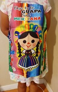 Mandil Apron De Vinyl Fabric Para Niña For Girls Infantil Frida Kids