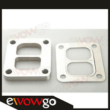 """T4 Divided SS304 Turbo Inlet Weld Flange 1/2"""" Thick + SS304 Gasket"""