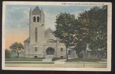 Postcard Greenville Pennsylvania/Pa 1st First Presbyterian Church view 1910's