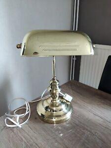 Lampe de bureau laiton notaire banquier