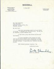 Happy Chandler Signed 1947 Baseball Commissioner Letter PSA/DNA COA Hall of Fame
