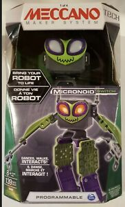 Meccano Tech Maker System Micronoid GREEN Switch Programmable Robot Building Kit