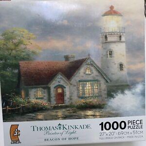 Thomas Kinkade BEACON OF HOPE 1000 Piece Puzzle 27x20 Lighthouse NEW SEALED