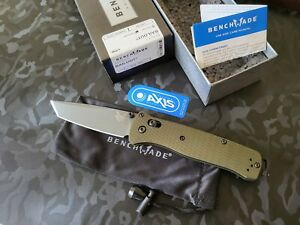 Benchmade537GY-1 BAILOUT® CPM-M4 Green Anodized Aluminum (Brand New In Box)