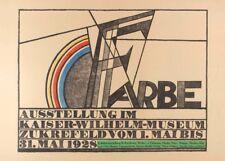 Vintage Bauhaus Color Titel, Alemania, 1928, Cartel Vintage 250gsm A3