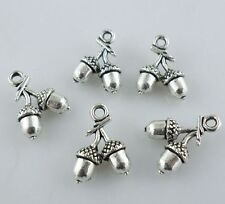 20pcs Tibetan Silver 3D Loose fruit Charms Pendants For Jewelry Findings 10x14mm