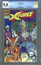 X-Force #1 (8/91) CGC 9.0. White! No UPC Code.