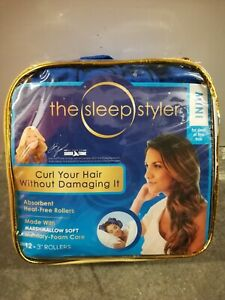"Sleep Styler Mini Pack of 12 3"" Memory Foam Rollers Hair Curling Overnight NIB"