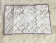 "Restoration Hardware Lilac Bound Diamond Baby Sham White 12""x18"""
