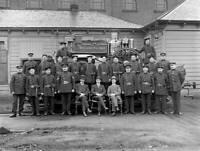 OLD TRAIN PHOTO Midland Railway firemen, Derby works, Derbyshire 1919