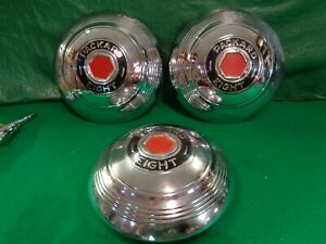 1939 Packard EIGHT Hub Caps, QTY 3 used take offs