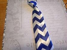 childrens neck tie necktie toddler - child wedding photo prop royal blue chevron