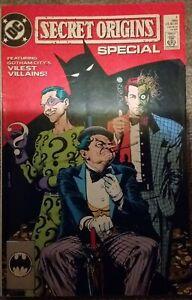 DC COMICS 1989 Secret Origins Special #1 Riddler Two-Face Batman Penguin