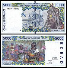 BENIN (West African States) 5000 5,000 FRANCS ND 2002-03 P 213B UNC