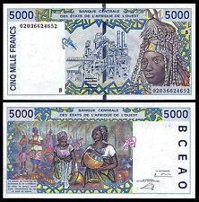 BENIN (West African States) 5000 5,000 FRANCS ND 2002-03 P 213B UNC