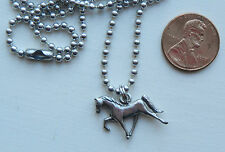 Tennessee Walking Horse Charm Necklace chain silver pewter USA-made nickel-free
