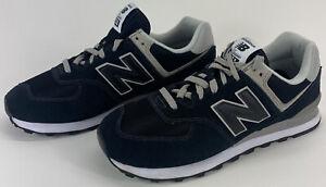 New Balance Mens Size 11 2E 574 Core Black Suede/Mesh Sneakers Shoes ML574EGK