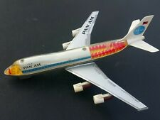 VINTAGE AIRPLANE PAN AM BOEING 747 JUMBO JET LARGE TOY BATTERY OPERATED JAPAN