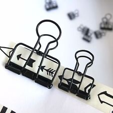 Black Planner Paper Clips Binder Bulldog Paperclip 19mm