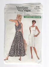 VOGUE pattern 7718 sundress in 2 lengths  SZ 6 8 10 uncut unused factory folded