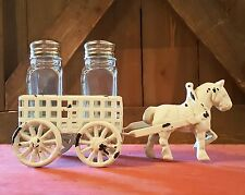 Horse & Buggy Wagon Carriage Rustic Vintage Style Cast Iron Salt & Pepper Shaker