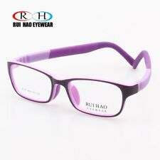 Kids Eyeglasses Eyewear Children Glasses Lens Purple Frame TR90 Elastic Temples