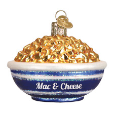 """Bowl of Mac & Cheese"" (32258)X Old World Christmas Glass Ornament w/OWC Box"