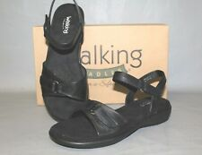 NEW Women's Walking Cradle Sky 2 Black Leather Comfortable Sandals