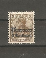 Deutsche Post in Marokko Briefmarken 1906 3 Centimos auf 3 Pfennig Mi. 34