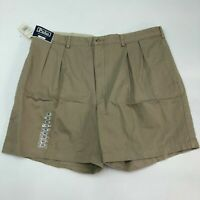 NWT Polo Ralph Lauren Chino Shorts Mens 42 Khaki Tan Pleated Front Classic Fit