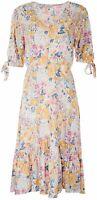 Luxology Womens Floral Print Flowy Dress