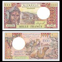 Djibouti 1000 1,000 Francs Banknote, ND(1979-1988), P-37, UNC, Paper Money