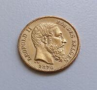 53129380 - Goldmünze Belgien 20 Francs Leopold II 1870 GOLD