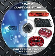 46.000 Patches Line6 POD POCKET-2.0-FLOOR PLUS-POD PRO Multi Effects Custom Tone