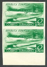 ESPAÑA - AÑO 1938 - EDIFIL 776ccds - CORREO SUBMARINO - VERDE AMARILLENTO.